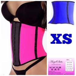 Bustino stringivita regular in latex blu XS
