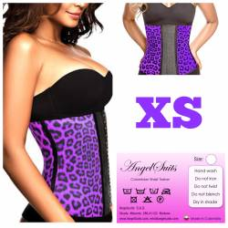 Bustino stringivita in latex animal print viola XS