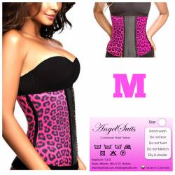 Bustino stringivita in latex animal print fucsia M